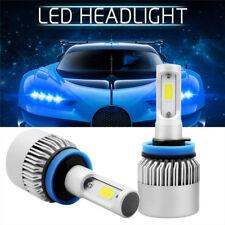 2x H11 200W 20000LM COB LED Headlight Kits Bulbs Hi-Lo Beam White 6500K H8 H9