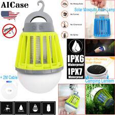 Led Electric /Solar Mosquito Killer Fly Bug Zapper Lantern Lamp Pest Trap Light