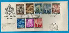 1950 - VATICAN - ENVELOPPE  FDC 1°JOUR - ANNO SANTO - 8 VALEURS