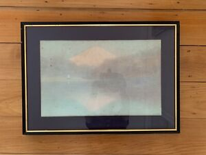 Vintage Original Japanese Mt Fuji Water Colour Painting~sign Y.Ito~Mt Fuji