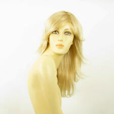 Perruque femme mi-longue blond doré méché blond très clair DALILA 24BT613
