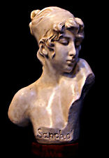 Sculpture French Bust of Ancient Greek Poetess Sappho from Lesbos island!