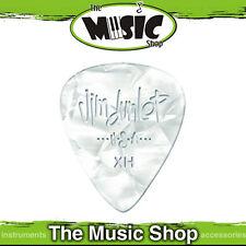 72 x Dunlop White Pearloid Classics Extra Heavy Celluloid Guitar Picks - 484XH