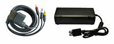 Xbox 360 Slim Parts Bundle Power Adapter And AV Cable By Mars Devices  2Z