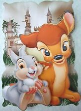 1 x Disney Card Topper Bambi and Friends (3) Large Colourful Cute Hand Made
