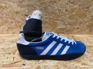 adidas Daley Thompson 2010 Trainers Blue & White Black Sole Size 10 UK