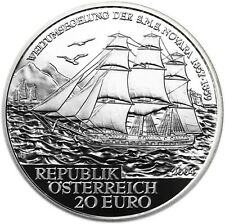 Österreich 20 Euro 2004 Auf Hoher See SMS Novara Polierte Platte im Etui
