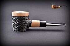 """HAND MADE UNIQUE WOODEN TOBACCO   SMOKING PIPE Poker """" No 63 """"  White"""