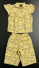 Hello Kitty Anna Yellow Cotton Top & Shorts Pyjama Set - 3-4 Years / 98-104 cm