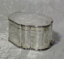 Scatola Sheffield da tavolo o scrivania c1900 Silver Plate Large Desk Box