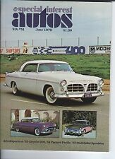 SPECIAL INTEREST AUTO  #51 - 1955 Chrysler, 1955 Studebaker Speedster, Packard +