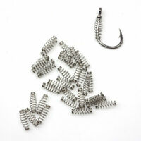 100pcs fishing hook bait feeder spring for Carp Hook fly Fishing Accessories