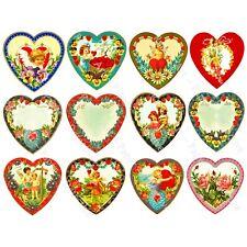 Valentine's Day Hearts, Romantic Victorian Clip Art, Cut & Peel Sticker Sheet
