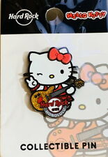 Hard Rock Cafe HONOLULU 2019 HELLO KITTY Playing Guitar PIN on Card LE 300 New!