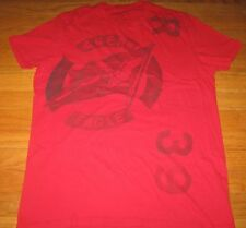 American Eagle Outfitters Mens Athletic Fit Red Graphic Tee Shirt Top