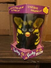 Furby Rare Black and Yellow Bumblebee 1999 Tiger Electronics Sealed 70-800