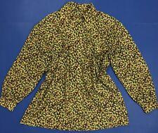 Camicia donna usato taglio ampio rilassato comodo floreale vintage retro T4024