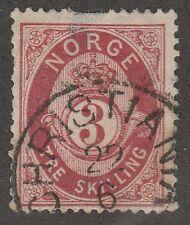 Kappysstamps 571 Norway Scott# 18 Perf Fault Thin Catalog = $35