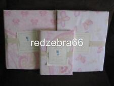 Pottery Barn Kids Mallory Twin Duvet Sham Sheet Set 5-pc Butterfly Paisley Pink