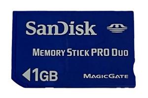 Sandisk 1GB Sony PSP Memory Stick Pro Duo Memory Card Camera Memory