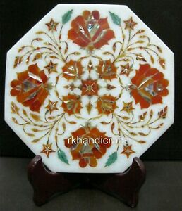 """Marble Office Plate with Cottage Crafts Table Master Piece Business Gift Size 8"""""""
