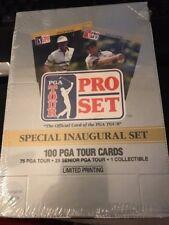 1990 Pro Set PGA Tour Special Inaugural Set Trading Cards - Sealed Box / 4 Sets