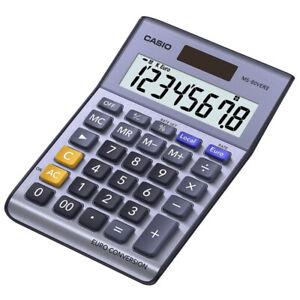 Casio MS80VERII Desk Calculator with Euro Conversion