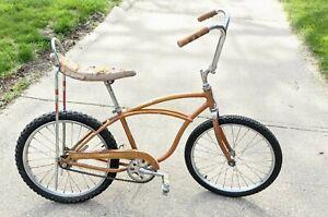 "Vintage 1966 Schwinn Stingray Junior Muscle Bike For Restoration Coppertone 20"""