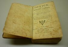 Antique 1771 Office De La Semaine Sainte Latin et Français Hard Cover Book