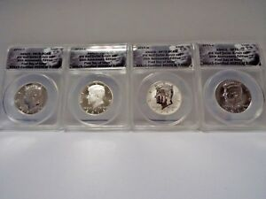 2014* 4Coin Set* KENNEDY 50TH ANNIVERSARY SILVER  ANACS 70 First Day of Issue