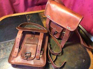 """Sports Bag Genuine Leather Backpac Travel Retro Vintage Shoulder School 30cm/12"""""""