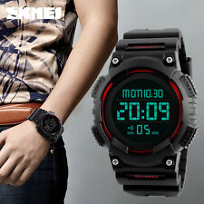 Red Waterproof Men' Digital Watch Electronic LED Sport WristWatch SKMEI 1248