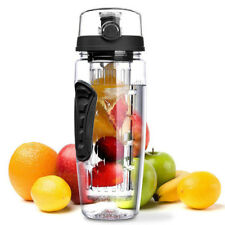 1000ML Fruit Infusion Infusing Infuser Water Bottle Health Maker Flip Lid New SD