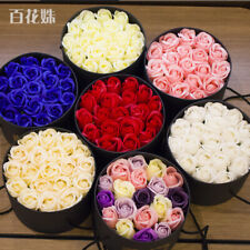 Creative Romantic Eternal Flowers Soap Rose Flower with Lovely Box Bouquet 7colo