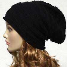 Knit Men's Womens Baggy Beanie Oversize Winter Hat Ski Slouchy Chic Cap Skull