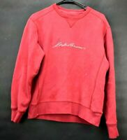 Eddie Bauer Women's Small Long Sleeve Cotton Blend Fall/Winter Sweatshirt Red