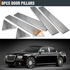 Fit For 2005-2010 Chrysler 300 300C 6PCS ABS Chrome Pillar Post 05 06 07 08