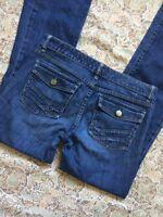 Gap Women's Designer Blue Jeans Size 4 Boot Cut Cute Western Nice Denim Pants