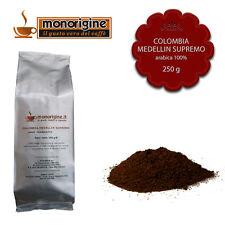 Caffè Arabica macinato fresco per moka Colombia Medellin Supremo 250 gr