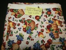 Longaberger Fruit and Baskets Fabric 5 yards