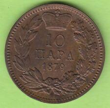 Serbien 10 Para 1879 in vz hübsch nswleipzig