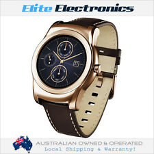 LG Urbane W150 Smart Watch Pink Gold W/ Leather Strap Android Wear Heart Rate