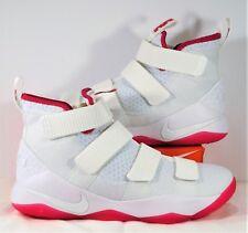 5232ab15146b Nike LeBron Soldier XI 11 Kay Yow Breast Cancer White Pink Sz 11 NEW 897644  102