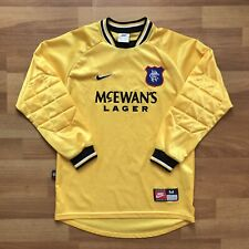 GLASGOW RANGERS 1997 1998 GOALKEEPER FOOTBALL SHIRT SOCCER JERSEY sz M BOYS