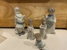 Lladro Christmas Morning Children Figurines/Ornaments Mr. and Mrs. Claus Rare