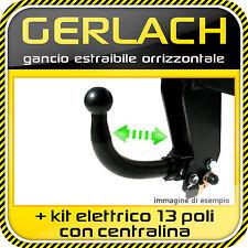 Fiat Doblo dal 2010 gancio di traino estraibile + kit elettrico 13 poli