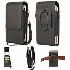 Magnetic Belt Clip Loop Pouch Holster Leather Carry Case Cover For Mobile Phone