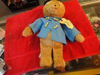 Vintage 1975 paddington teddy bear darkest peru to London England Eden toys