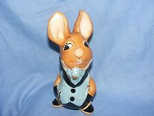 Pendelfin Stoneware Rabbit Uncle Soames Blue Burnley England