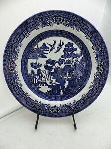 "Churchill of England - Blue Willow - 1 Dinner plate - 10 3/8"" - EUC"